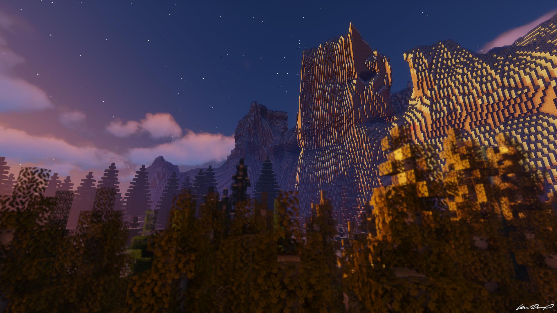 Minecraft mountain scenery [1920×1080] 4K