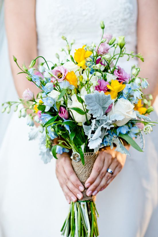 style me pretty bridal bouquet using yellow freesias. Black Bedroom Furniture Sets. Home Design Ideas
