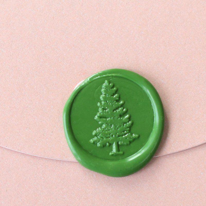 monogram wedding envelope seals sticker%0A Pine tree Wax Seal Stamp  wedding invitation seals  tree sealsWS     u