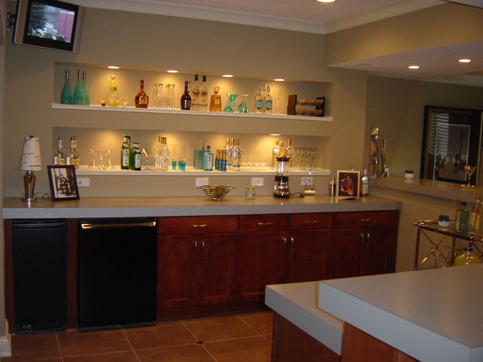 Home bar designs and basement plans custom ideas pictures chicago peoria springfield illinois - Basement bar layout ideas ...