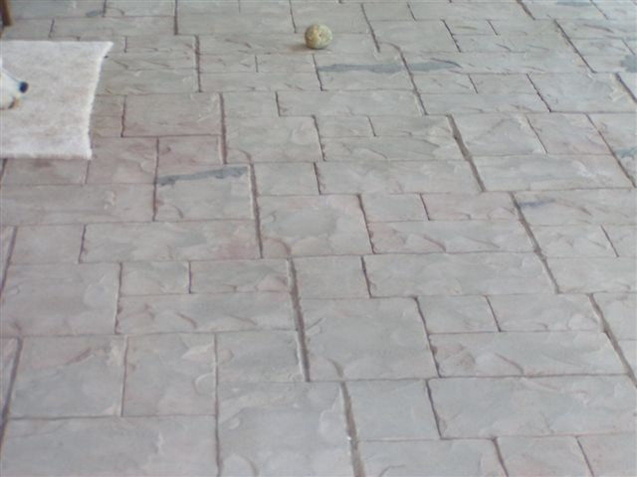 Stamped and Stained Decorative Concrete Overlay in Pioneer