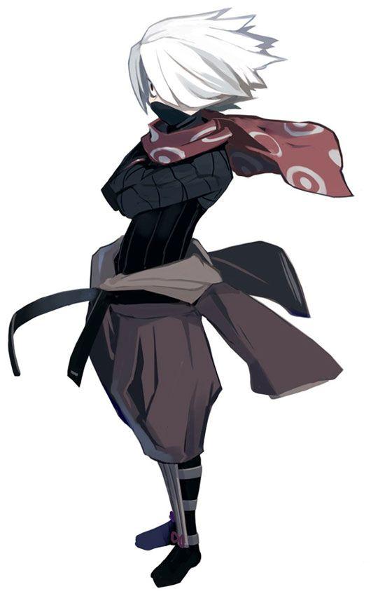 Male Anime Ninja : anime, ninja, Ninja, Characters, Disgaea, Cursed, Memories, Anime, Character, Design,