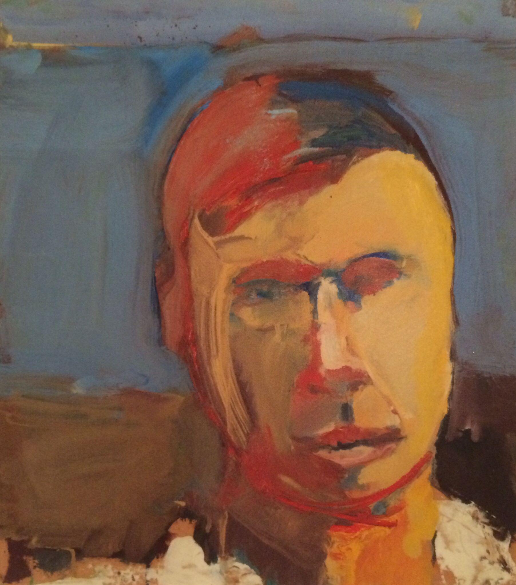 ♀ Painted Art Portraits ♀  Richard Diebenkorn | Self-Portrait, 1956
