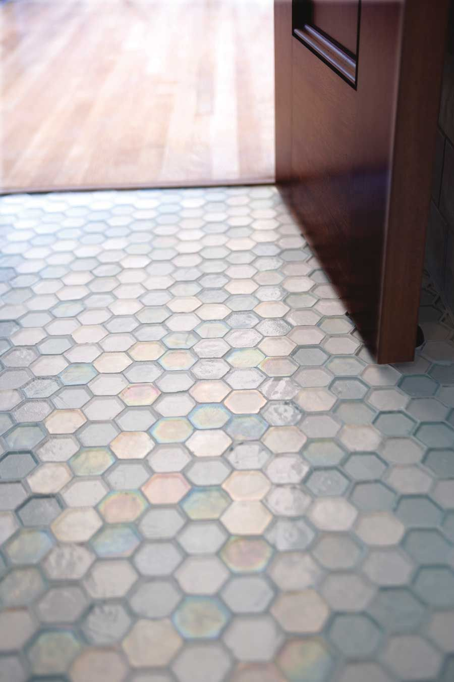 Green Afoot Environmentally Friendly Flooring Honeycomb Tile