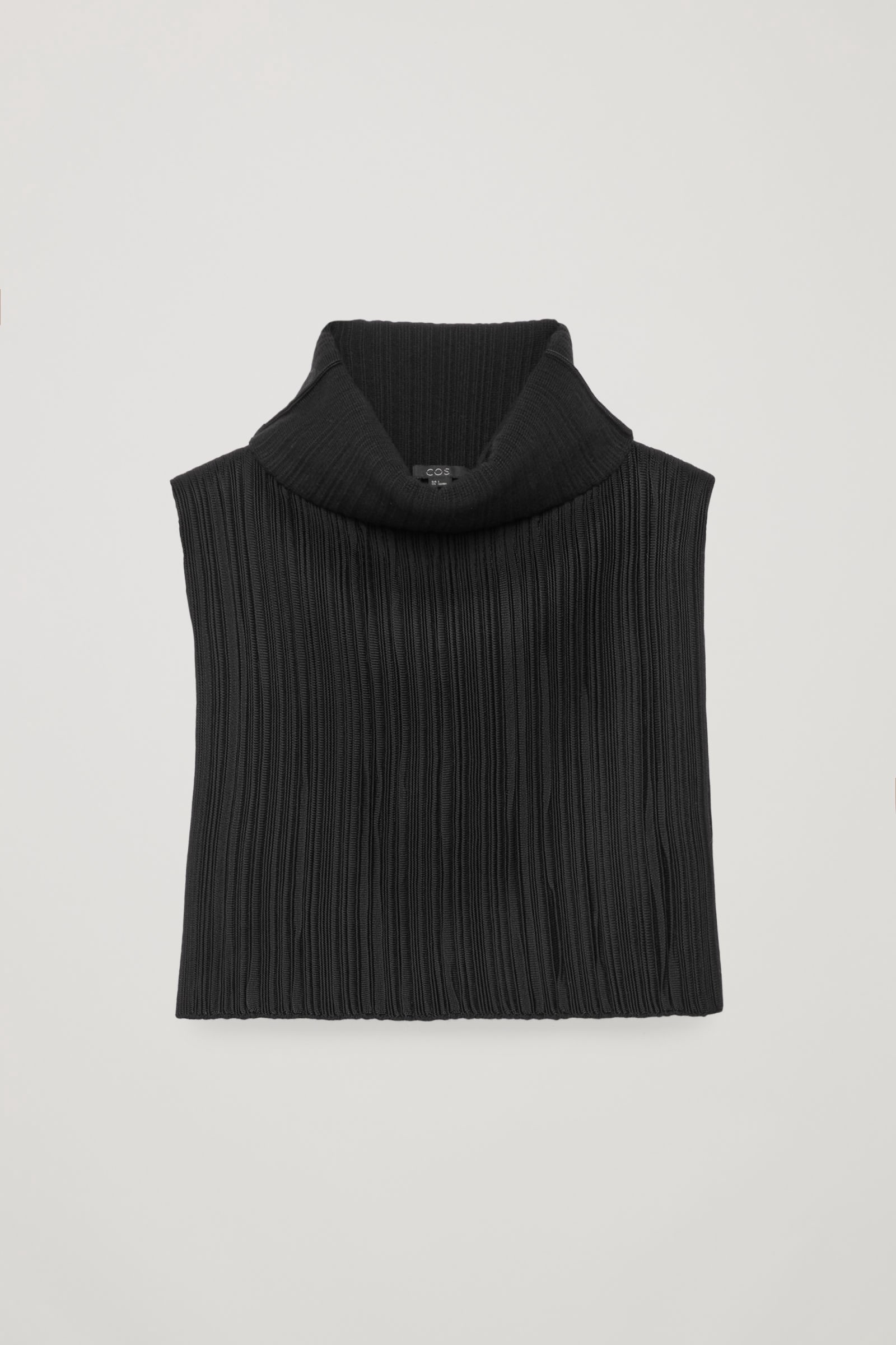 b07be0bc93a Cos High Rippled-Wool Mock Neck - Black Onesize