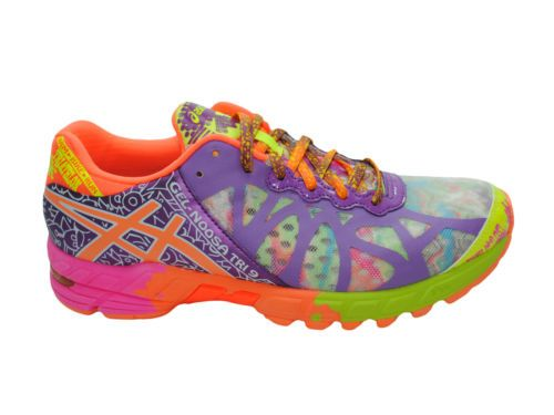 size 40 02579 1e04c NEW-WOMENS-ASICS-GEL-NOOSA-TRI-9-RUNNING-SHOES-TRAINERS-IRIDESCENT-ORANGE