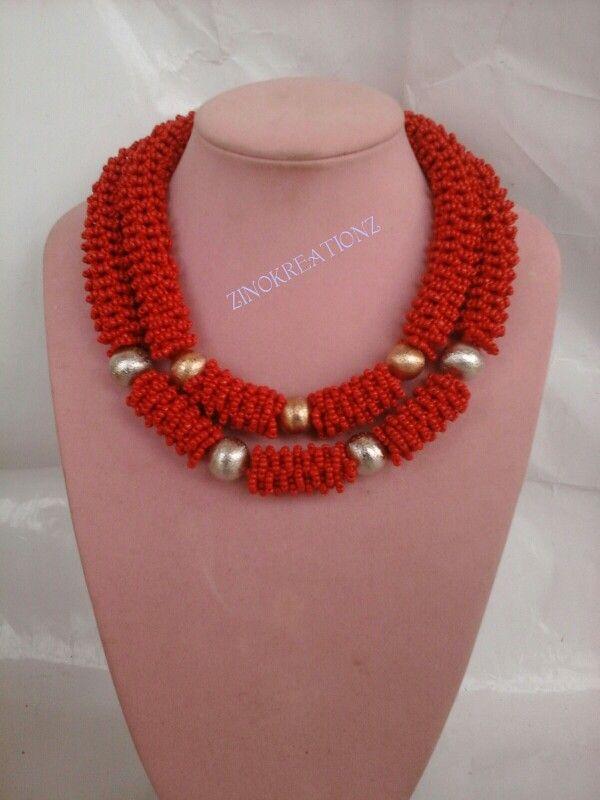 Beaded bush spiral necklace | Zinokreationz | Pinterest | Spiral ...