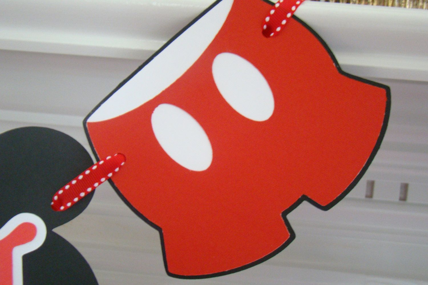 Mickey Mouse Birthday Banner by KraftingwithPatty on Etsy, $25.00