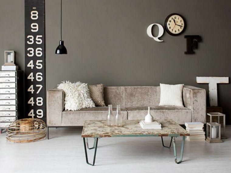 Industrial style Wohnzimmer Ideen für Möbel und Dekoration