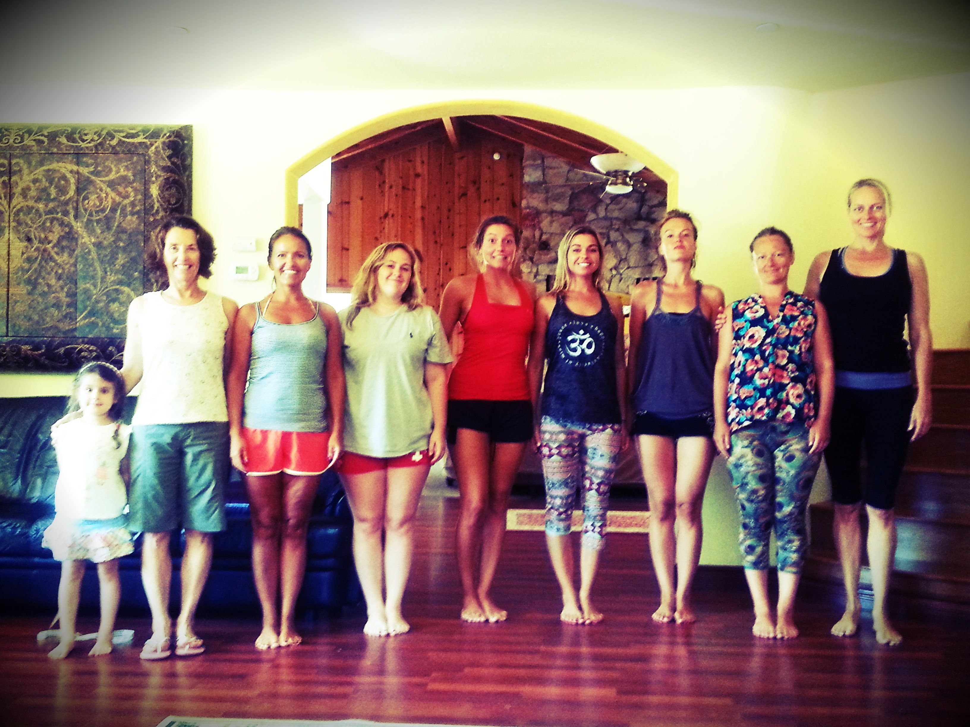 Yogastory Day 24 After Measuring Spines Trainees Stand