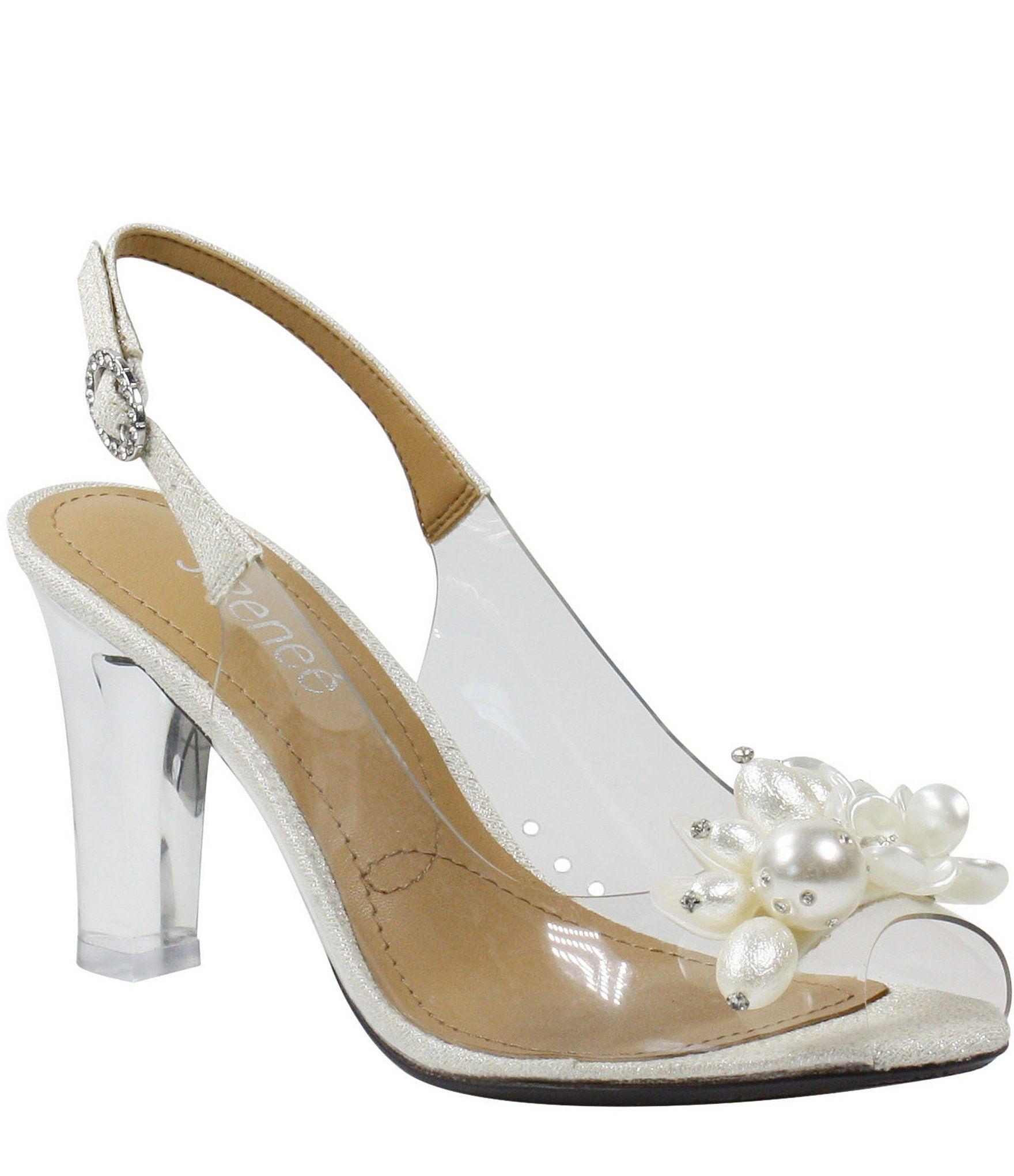 Dillards Wedding Gifts: J. Renee Drisana Sling Back Clear Pumps #Dillards