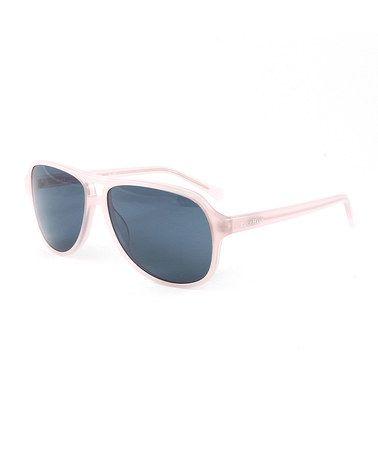 This Blush & Gray Aviator Sunglasses is perfect! #zulilyfinds