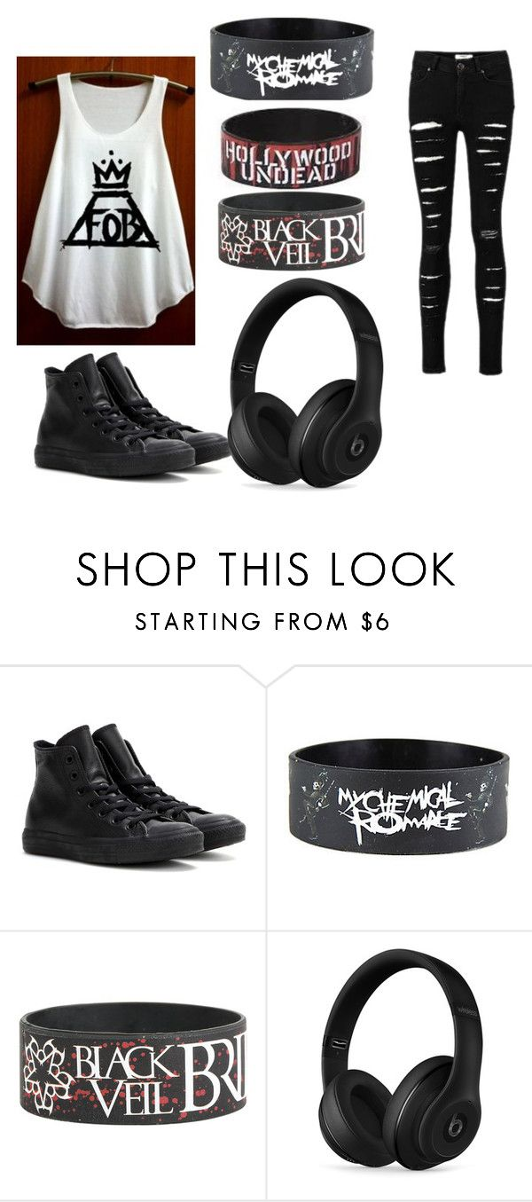 """""""Band Day"""" by abbyschellhase ❤ liked on Polyvore featuring Converse and Beats by Dr. Dre"""