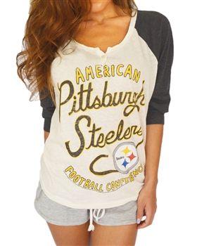 38d3235bb Pittsburgh Steelers Womens Rookie Raglan Top by Junk Food | go ...