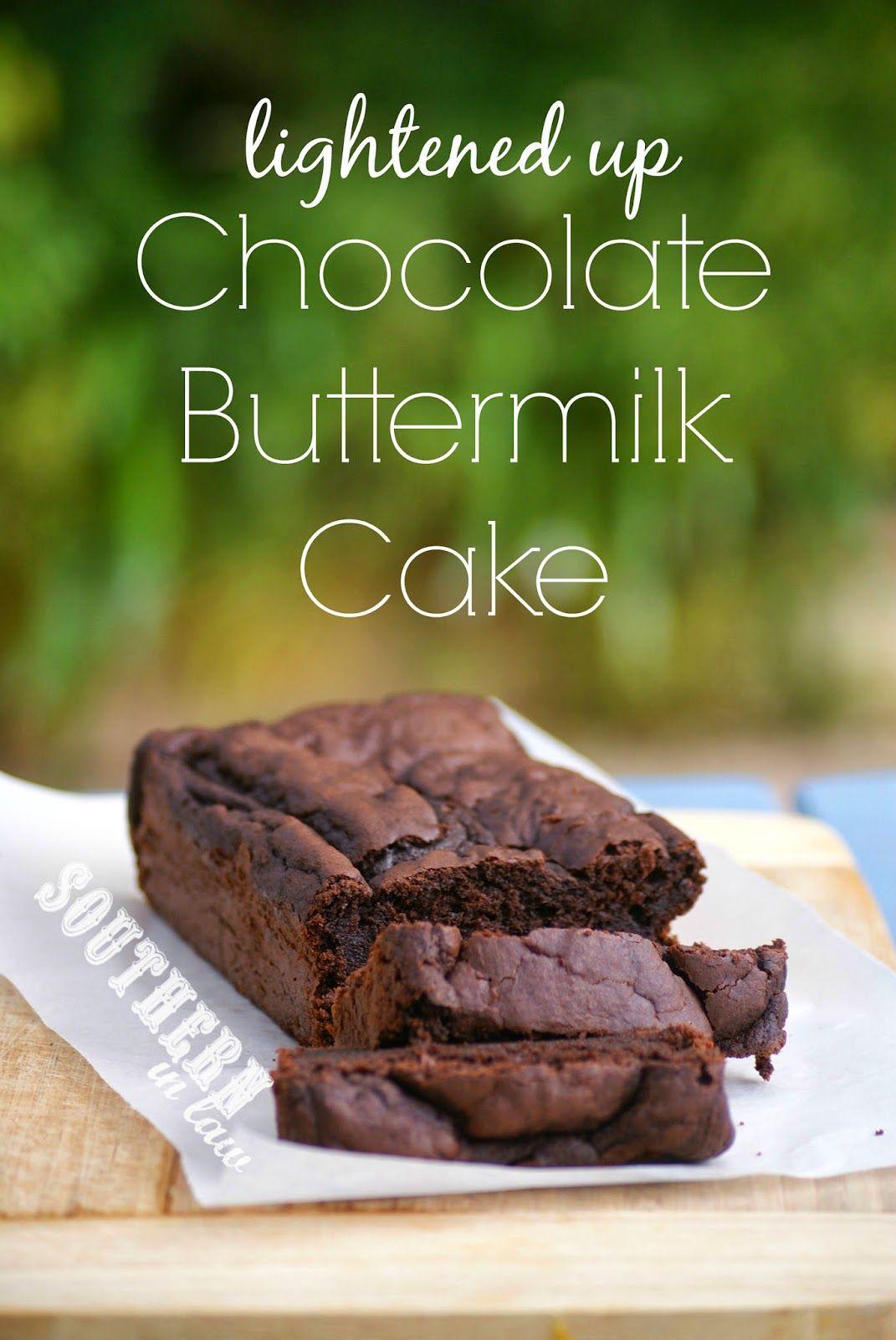 Recipe Lightened Up Chocolate Buttermilk Cake Buttermilk Recipes Buttermilk Chocolate Cake Cake Recipes