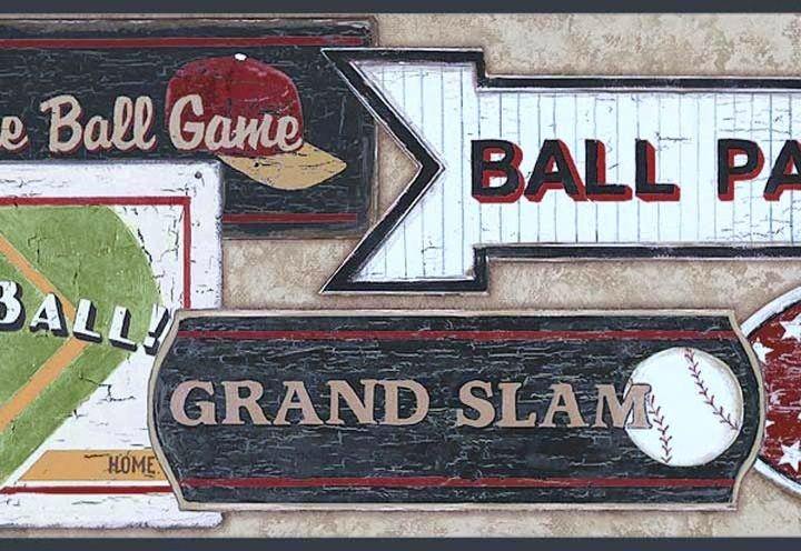 baseball wallpaper border Baseball wallpaper, Baseball, Room