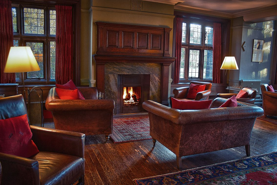 The Gladstone Room At Gladstone S Library Books To Read And An Open Fire What Could Be Better It S A Real Cozy Living Rooms Bed And Breakfast Old Libraries