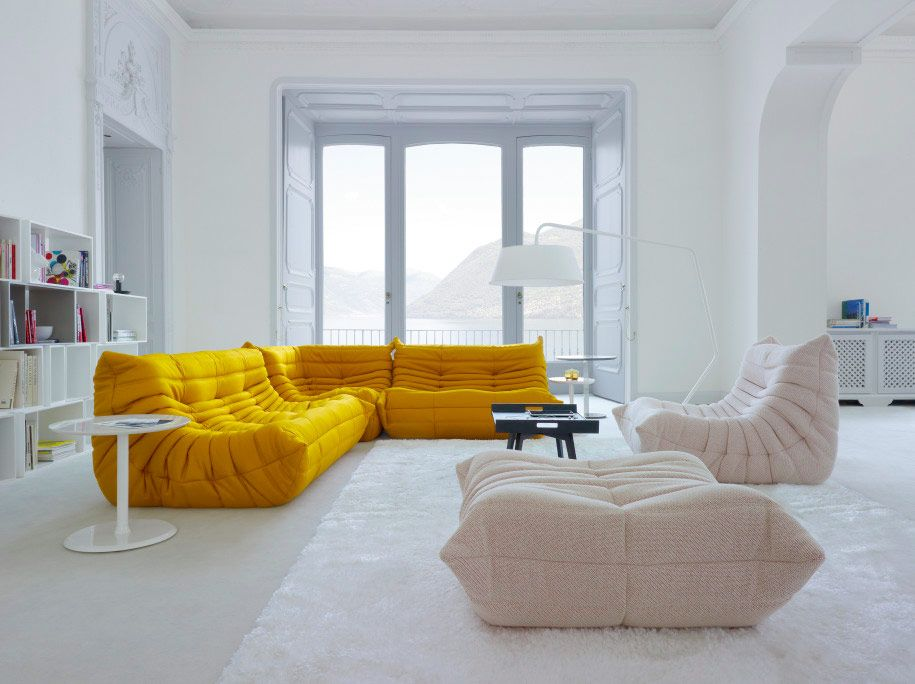 Yellow Sofa that stands out!