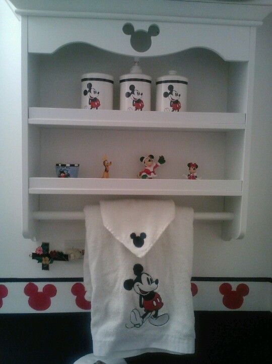 Micky mouse bathroom for the home disney bathroom - Disney mickey mouse bathroom decor ...