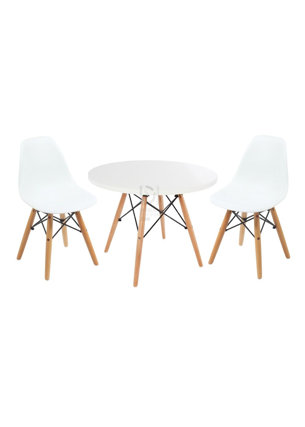 Lot 2 chaises dsw enfant table dsw enfant 65 cm for Chaise a bascule style eames