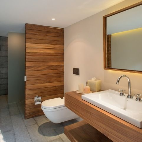 Warm, mix of materials | Denver Street- Bathroom | Pinterest ...