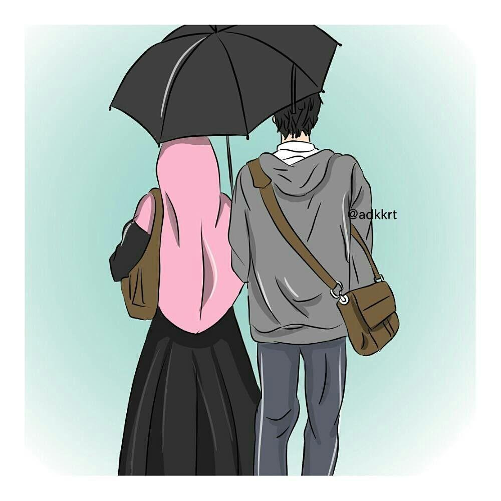 Gambar Muslimah Couple Halal Di 2020 Pasangan Anime Lucu Gambar Gambar Pengantin