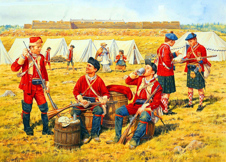 British Light Infantrymen At Fort Crown Point Seven