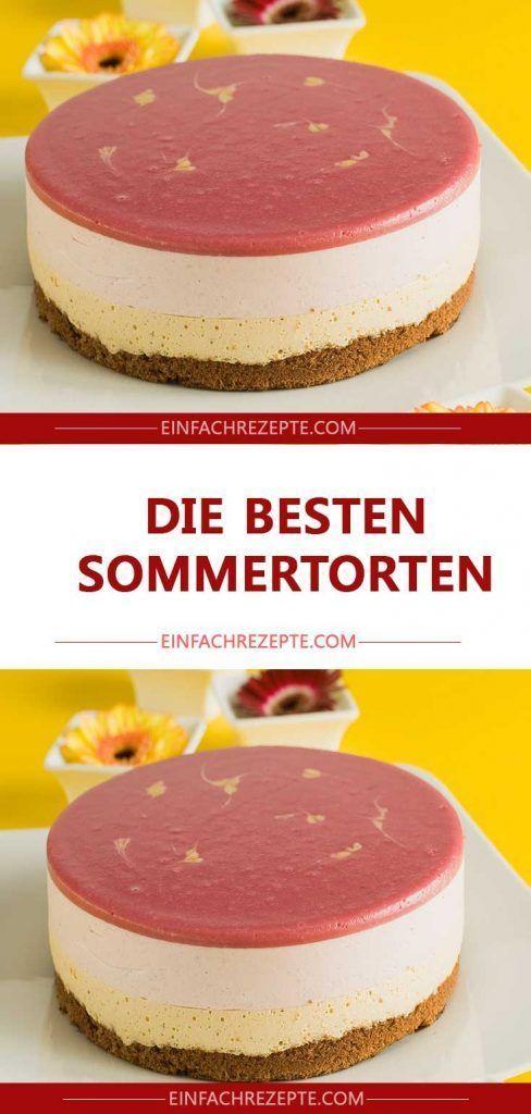 Die besten Sommertorten – Cremig fruchtige Eierlikörtorte mit Pfirsich und Ei... - Kuchen rezepte -