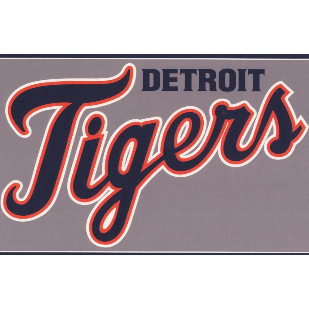 York Wallcoverings Detroit Tigers Mlb Baseball Team Fan Sports Prepasted Wallpaper Border Zb3370bd The Home Depot In 2020 Detroit Tigers Mlb Baseball Teams Detroit