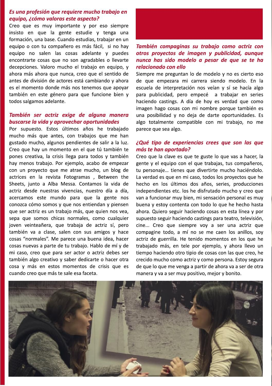 Pág 5 de la entrevista a Ana Rujas de Gaman Magazine#1 disponible en http://issuu.com/gamanmagazine/docs/n1_gamanfinal