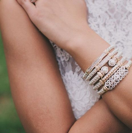 Stacked Vahan Bracelets For A Beautiful Wedding Look Weddingjewelry Http Www Hudsonpoole Designers Alwand Html