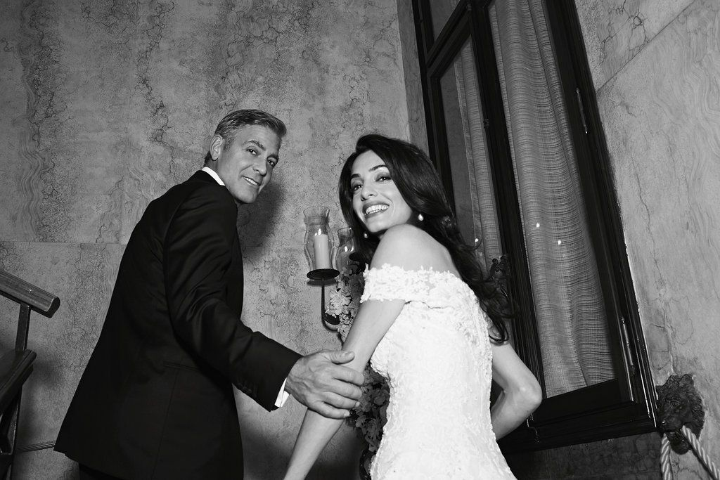 Look Back At Amal And George Clooney S Gorgeous Wedding George Clooney Wedding Amal Clooney Amal Clooney Wedding
