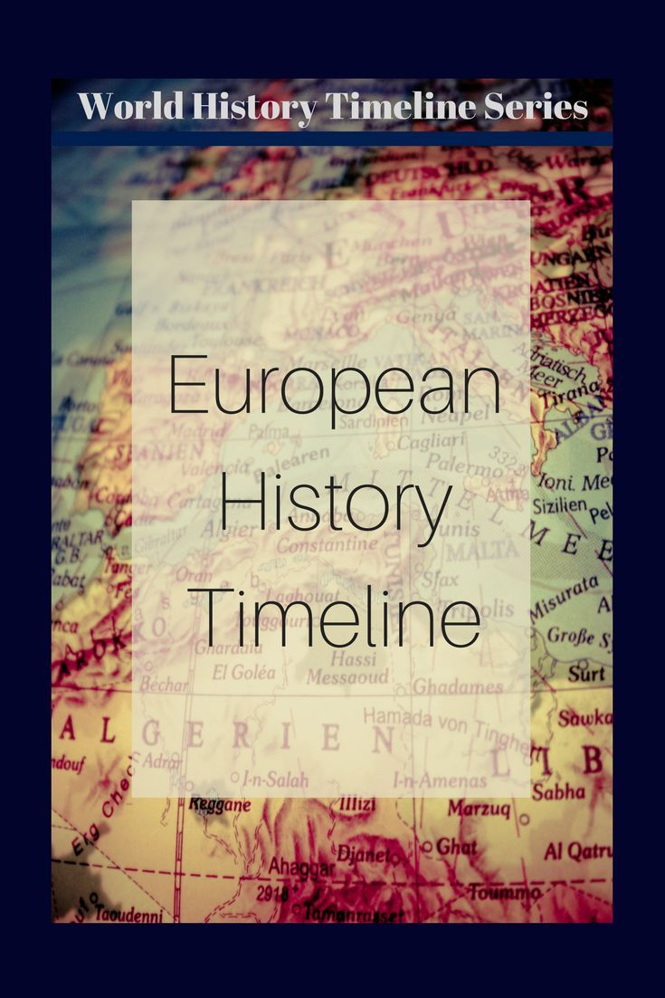 Photo of European History Timeline Poster: World History Timeline Series