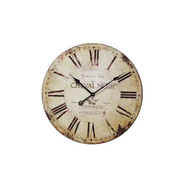 Large French Wall Clock ($139) ❤ liked on Polyvore featuring home, home decor, clocks, backgrounds, decor, fillers, accessories, french wall clock, wall home decor and wall clock