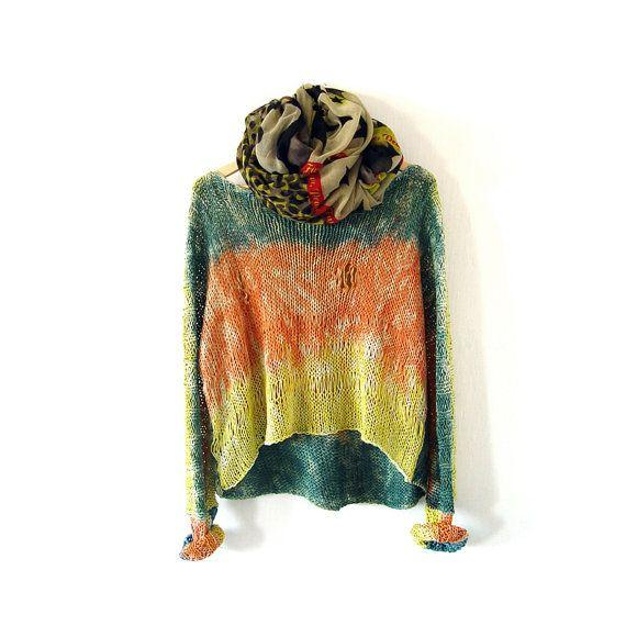 Tye Dye Cotton Sweater. by munamiu on Etsy, $40.00