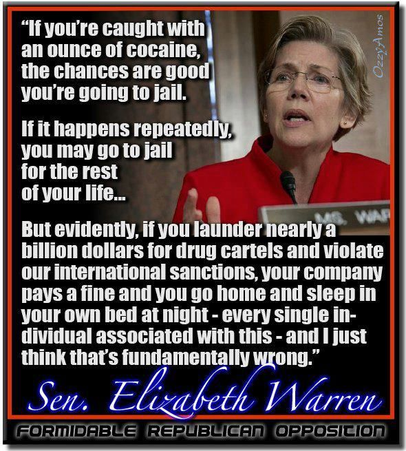 Image result for going to jail for cocaine elizabeth warren quote