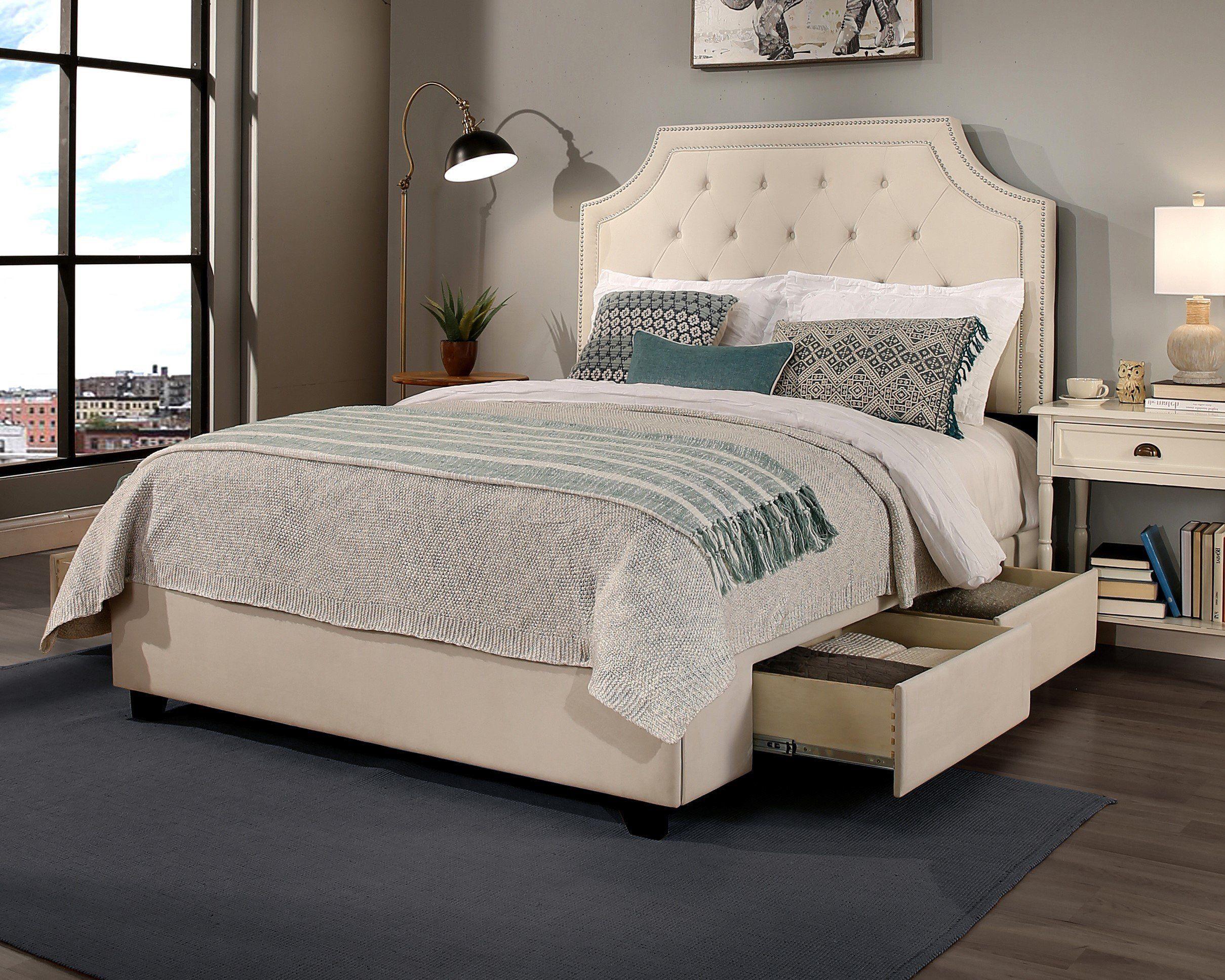 Devitt Tufted Upholstered Low Profile Storage Platform Bed King Upholstered Bed King Size Storage Bed Queen Size Storage Bed