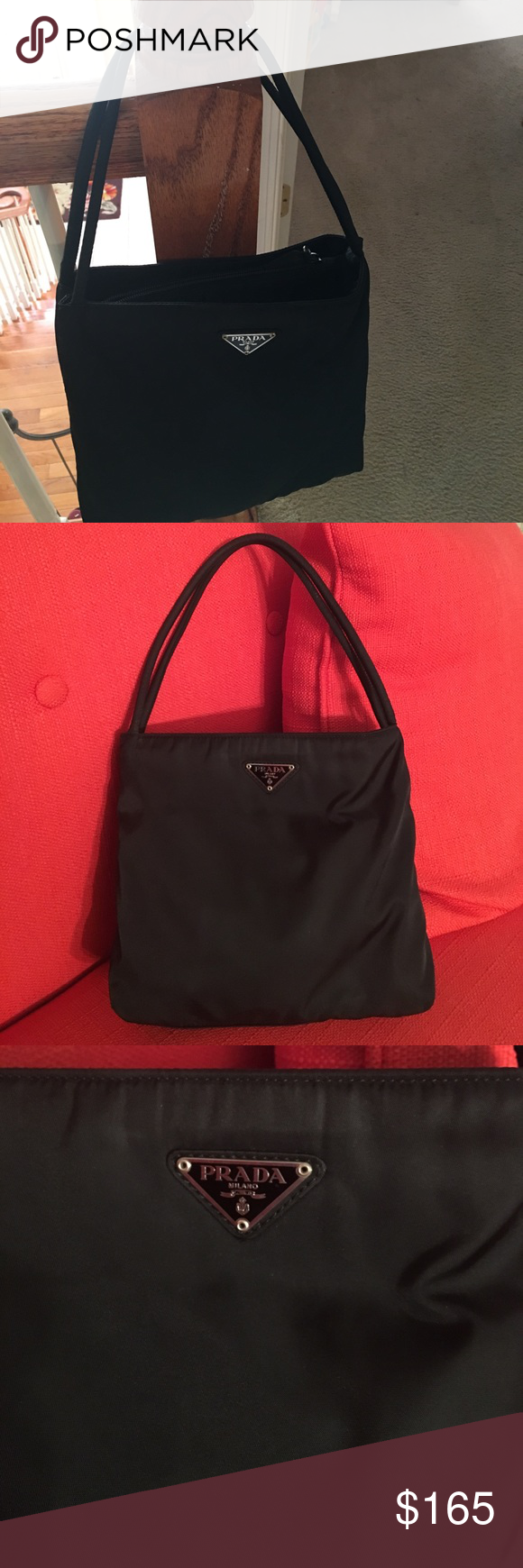 21f77018e7 ... australia beautiful black authentic small prada bag good used condition  clean inside and out no smells