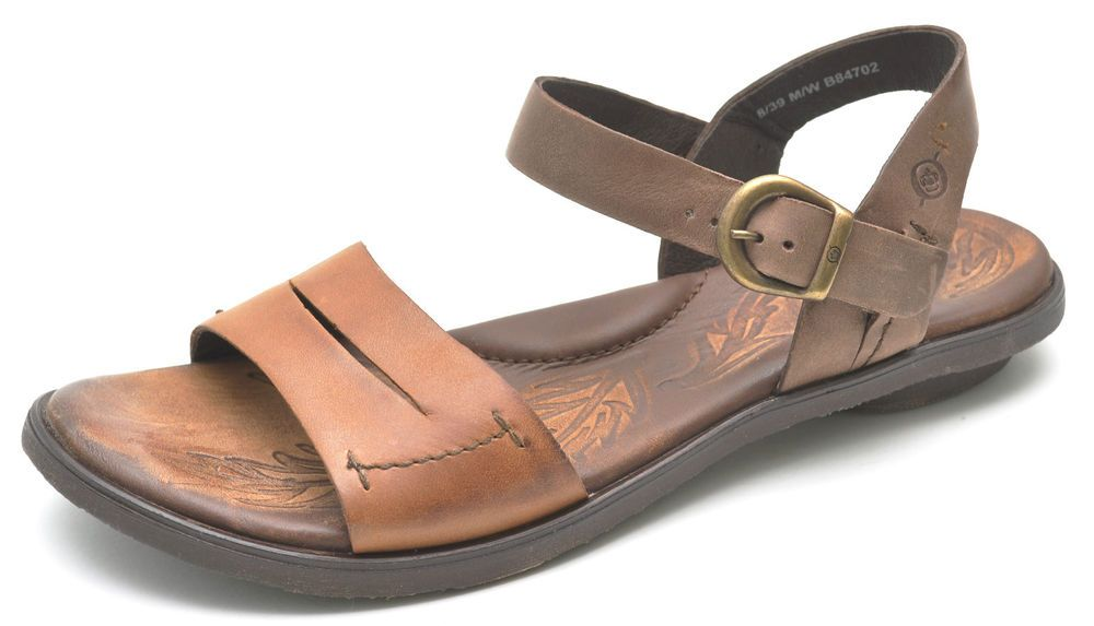 30f0e22bb4ca Born EBB Camel Natural Brown Leather Sandals Women s 8 - NEW - B84702  Brn   AnkleStrap