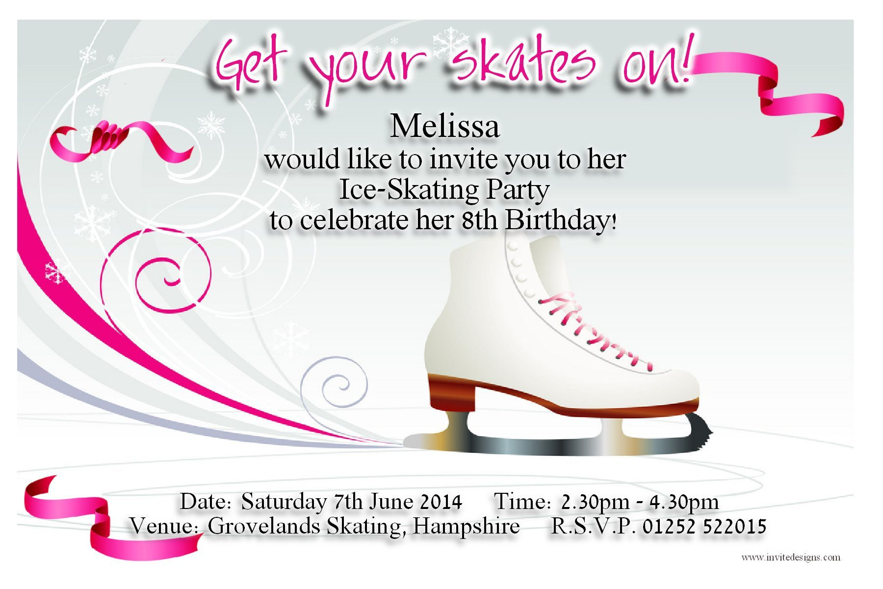 Download FREE Template Ice Skating Birthday Party Invitations | Baby ...