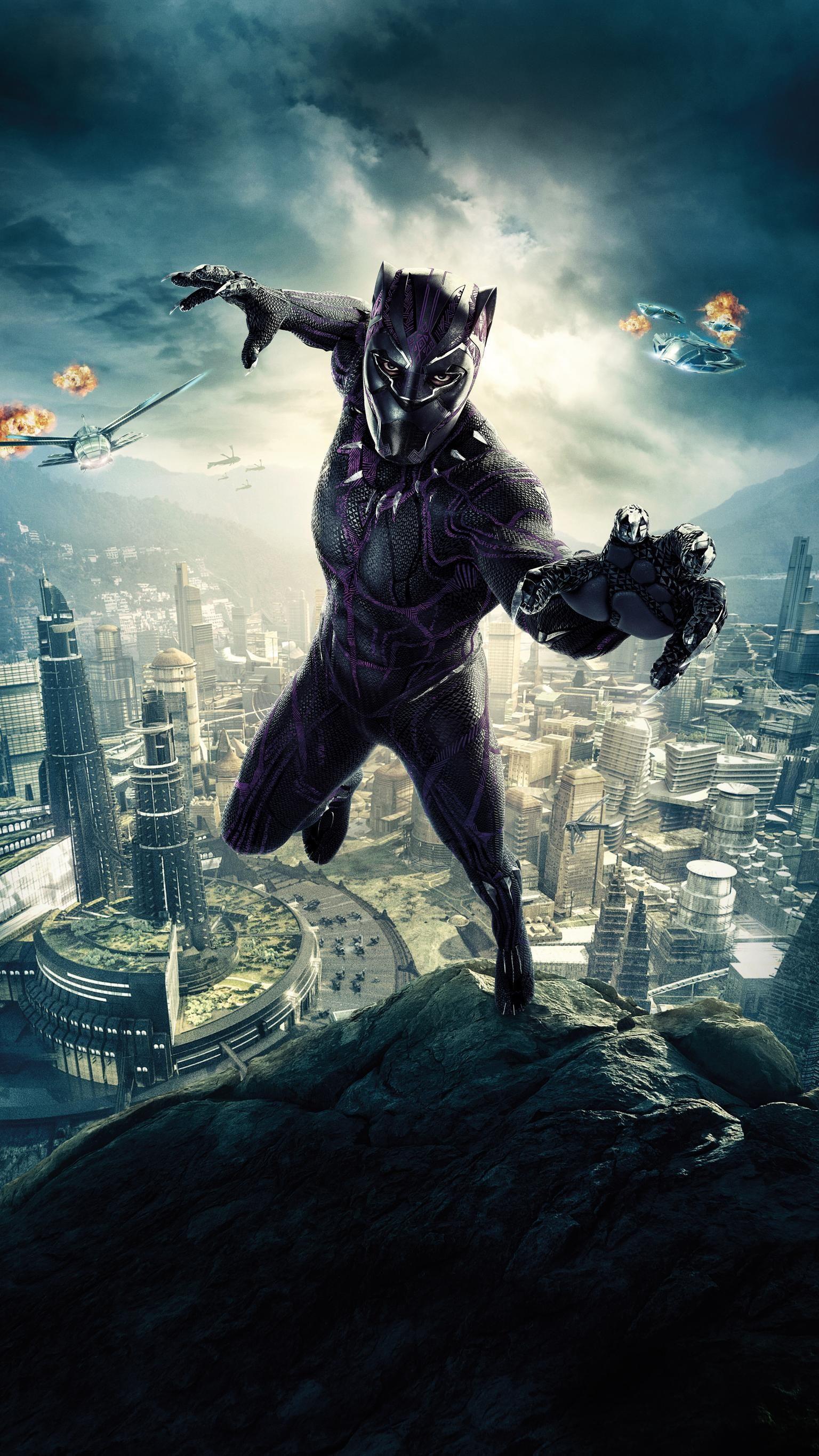 Black Panther 2018 Phone Wallpaper Moviemania Black Panther Marvel Black Panther Art Black Panther Movie Poster