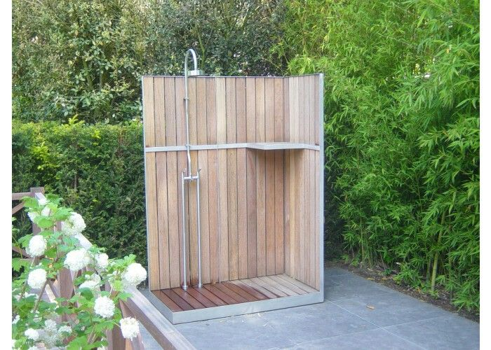 Shower in garden