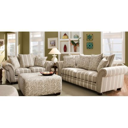 cute grey and white stripped coach sofa sets Pinterest