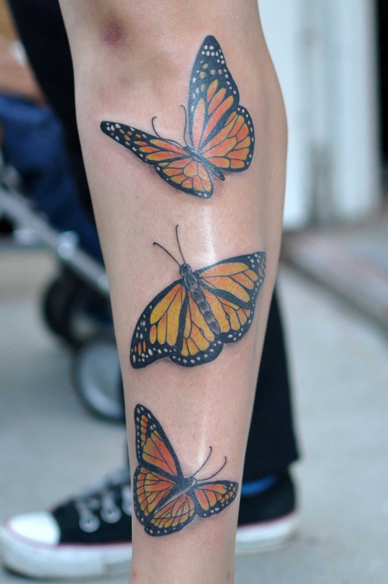 Monarchs As Much As Butterflies Terrify Me I Know Laugh If You Want I Really Like Monarch Butterfly Tattoo Yellow Butterfly Tattoo Mens Butterfly Tattoo