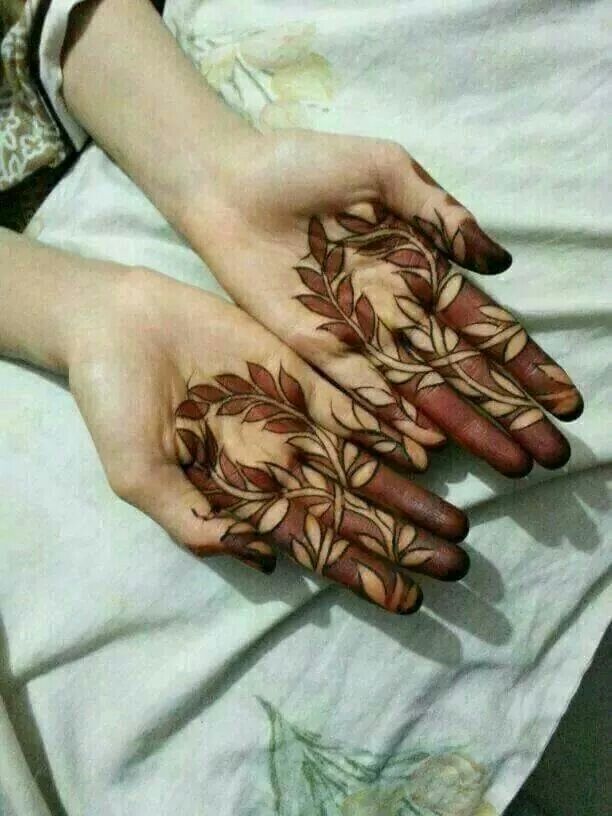 Black And Red Henna Combination Henna Henna Tattoo Henna
