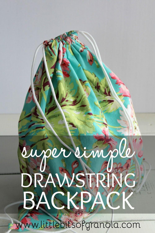 Super Simple Drawstring Backpack Drawstring Backpack