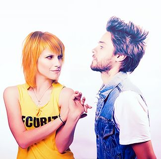 Hayley Williams and Jared Leto
