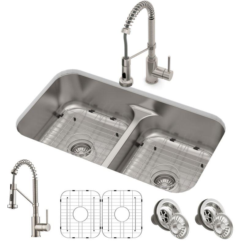 Kraus Kca 1200 In 2020 Sink Double Bowl Kitchen Sink Stainless