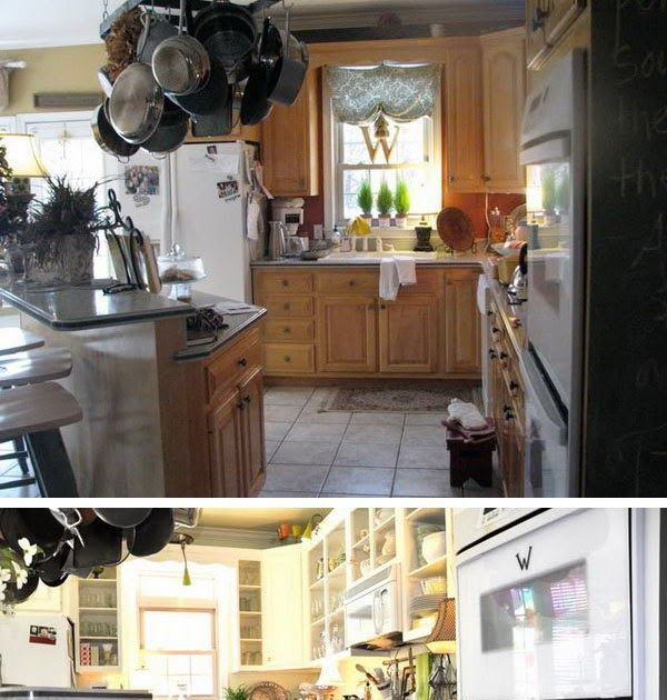 before and after painted kitchen cabinets the pictures and details of our home in 2020 on kitchen cabinets painted before and after id=75874
