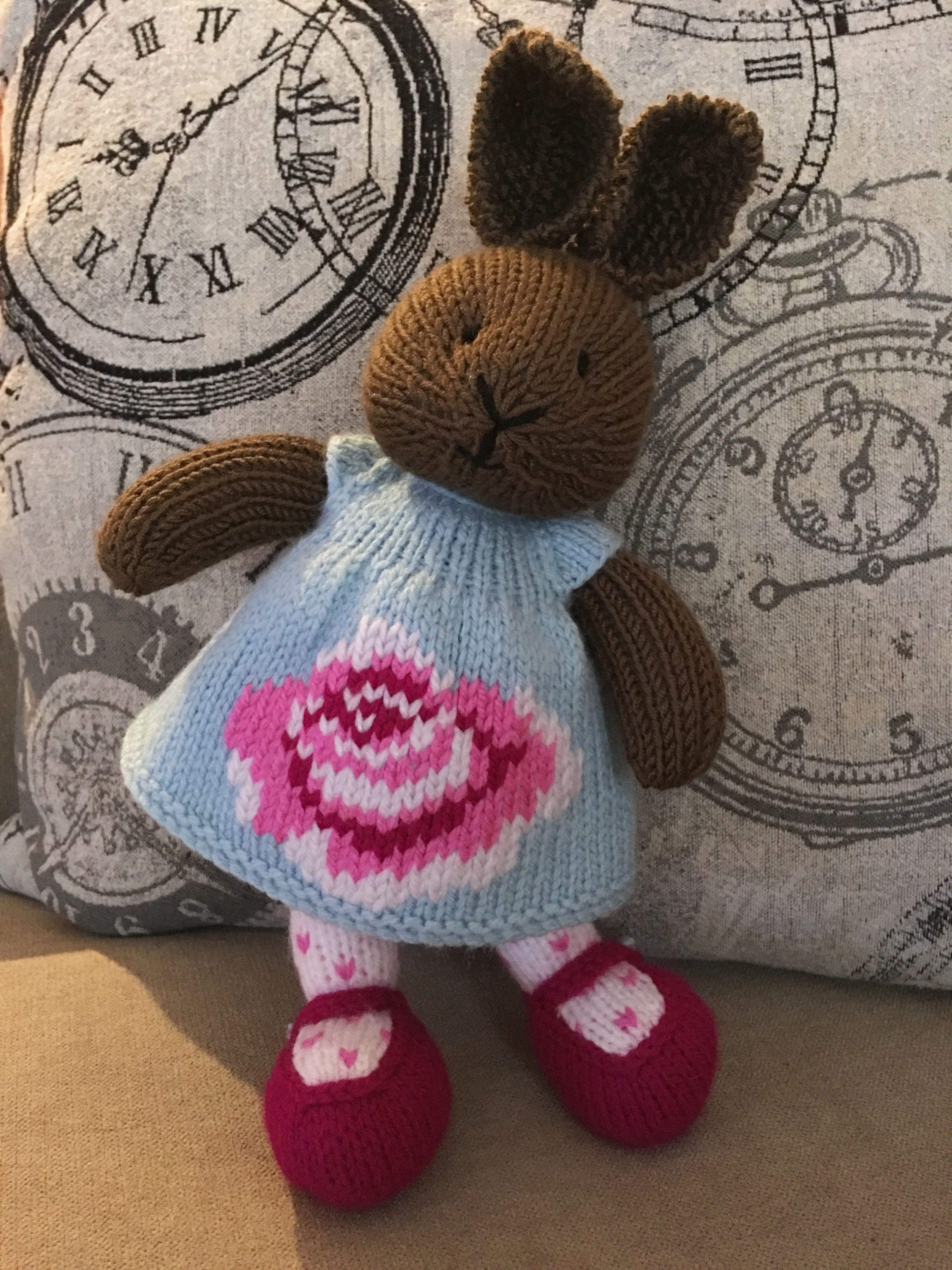 Bunny pattern by Littlecottonrabbits, dress pattern by Suzymarie ...